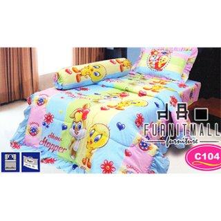 ชุดผ้าปูที่นอน SATIN ลายการ์ตูน รุ่น C104