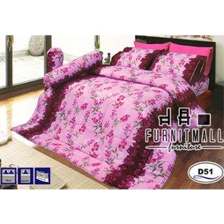 ชุดผ้าปูที่นอน SATIN รุ่น D51