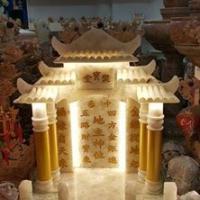 ศาลเจ้าที่ขนาด 16 นิ้ว หินหยกน้ำผึ้งแก้ว