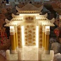 ศาลเจ้าที่หินหยกน้ำผึ้งแก้ว ขนาด 24 นิ้ว
