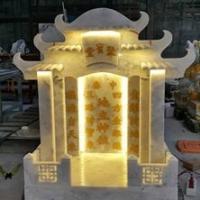 ศาลเจ้าที่จีน 27 นิ้ว หินเทาลายเมฆ