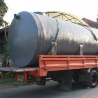 ถังบำบัดน้ำเสียไฟเบอร์กลาส ทรงแคปซูล 18,000 ลิตร