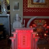 ศาลเจ้าที่จีน 32 นิ้ว หินขาวอมชมพู