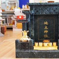 ศาลเจ้าที่จีน 35 นิ้ว หินเขียวอิตาลี