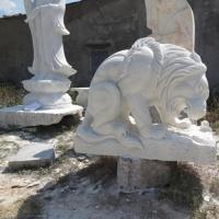 สิงโตกินเนื้อ แกะสลัก