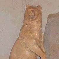 หมี แกะสลักหินอ่อน