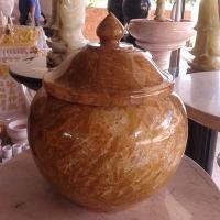 ผอบหินอ่อน หยกน้ำผึ้ง ขนาดสูง 30x35 ซม.