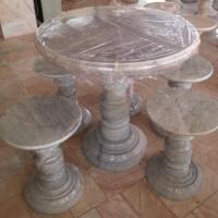 โต๊ะหินอ่อนทรงกลม ขนาด 100x80 ซม.