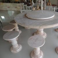 โต๊ะหินอ่อนทรงกลม ขนาด 140x80 ซม.