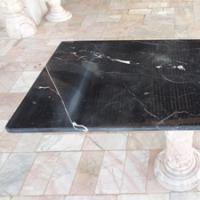 โต๊ะหินอ่อนสี่เหลี่ยม ขนาด 60x120x70 ซม. สีดำ