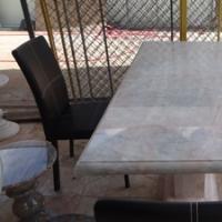 โต๊ะหินอ่อนสี่เหลี่ยม ขนาด 155x75x80 ซม.