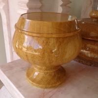 บาตรหินอ่อน หยกน้ำผึ้ง ขนาด 22x20 ซม.