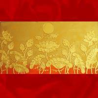 ภาพดอกบัวทอง ขนาด 0.60x1.2 เมตร