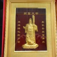 เทพเจ้ากวนอู กรอบรูปทองเค