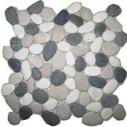 หินโมเสคผิวธรรมชาติ Black & White