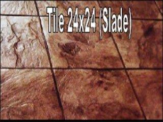 พื้นคอนกรีตพิมพ์ลาย (Tile 24 x 24)