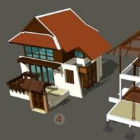 รับเขียนแบบบ้านทรงไทยประยุกต์