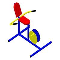 อุปกรณ์บริหารข้อเข่า - ขา แบบจักรยานล้อเหล็กนั่งพิง