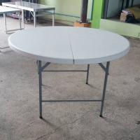 โต๊ะพับกลมหน้าพลาสติก