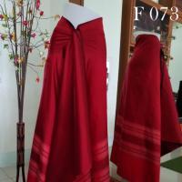 ผ้าไหมทอยกดอกสุรินทร์ ทอยกพริกไทย สีแดง 4 ม.