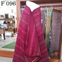 ผ้าเปลือกไหมบ้าน ลายโสร่ง สีพลอยแดง 4 ม.