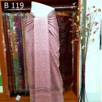 ผ้าไหมทอยกดอก พริกไทย ย้อมสีธรรมชาติ ลายร้อยดาว หมักโคลน