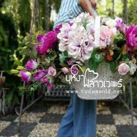 รับจัดกระเช้าดอกไม้ประดิษฐ์
