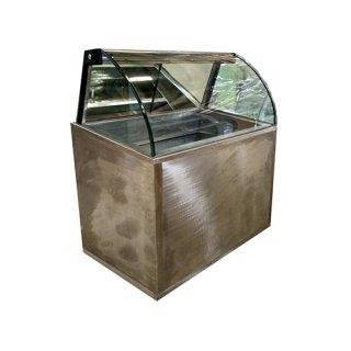 ตู้แช่ไอศกรีมกระจกโค้ง