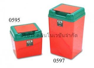 ถังขยะพลาสติกสี่เหลี่ยมขนาด 1 5และ 4 7 ลิตร