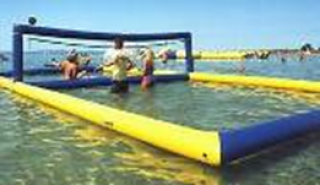 อุปกรณ์สวนน้ำ Blue Volleyball Court