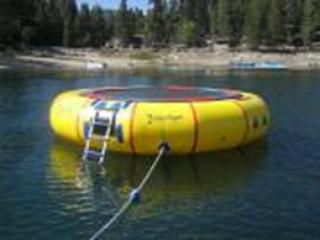 อุปกรณ์สวนน้ำ Yellow Trampoline