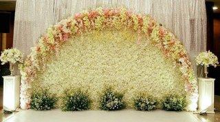ซุ้มงานแต่งงานดอกไม้สด