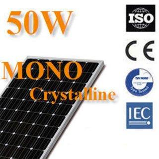 แผงโซล่าเซลล์ Mono Crystalline 50W