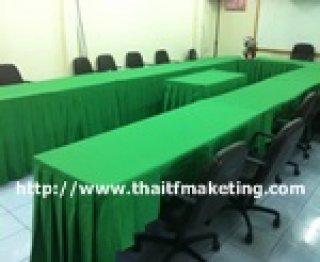 ผ้าคลุมโต๊ะเหลี่ยมประชุม