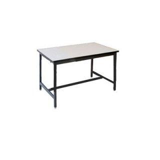 โต๊ะโรงอาหารไม้เต็ง ขาเหล็กพ่นดำ 1.5 นิ้ว