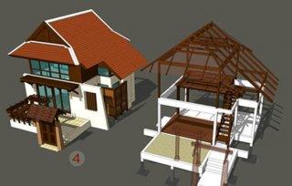 รับออกแบบบ้านทรงไทย