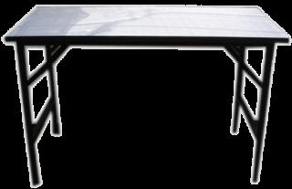โต๊ะพับอเนกประสงค์หน้าโฟเมก้าขาว 25 มม. ขาพ่นดำ