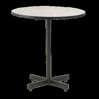 โต๊ะอาหารกลม หน้าเมลามีนขาว ขาแฉก