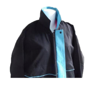 แบบแจ็คเก็ต สีดำแกมฟ้า