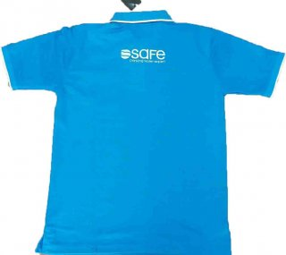 จำหน่ายเสื้อโปโลสีฟ้าจั๊มแขน