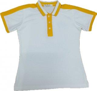 แบบเสื้อโปโลสีขาวปกเหลือง