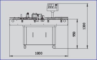STICKER LABELLING MACHINE MODEL AB2000