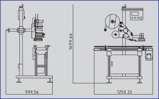 STICKER LABELLING MACHINE MODEL CA2000