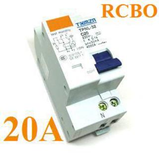 เบรกเกอร์ RCBO 20A