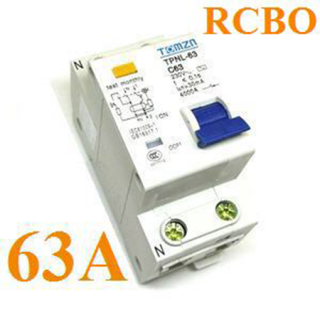 เบรกเกอร์ RCBO 63A