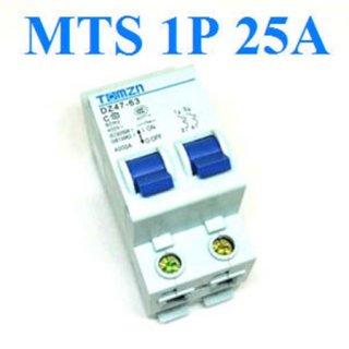 เบรกเกอร์สวิทช์ ระบบไฟ AC MCB 50HZ 1P 25A