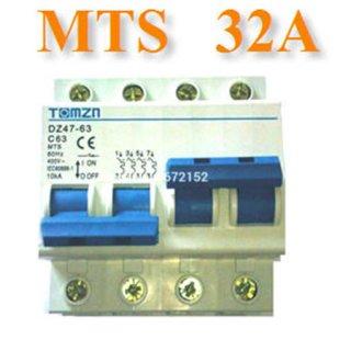 เบรกเกอร์สวิทช์ ระบบไฟ AC MCB 50HZ 2P 32A