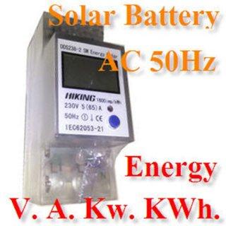 มิเตอร์วัดพลังงานไฟฟ้า สำหรับระบบ Solar Battery