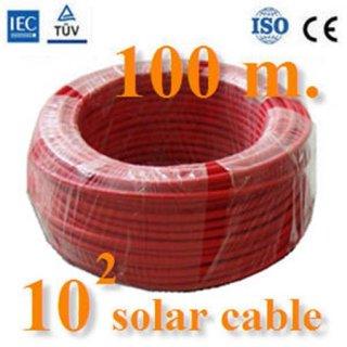 สายไฟโซล่าเซลล์ ขนาด10.0 mm2 สีแดง 100เมตร