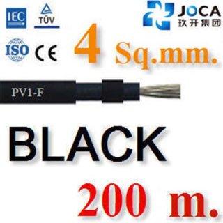 สายไฟ DC โซล่าเซลล์PV1-F 4.0 mm2 200ม.